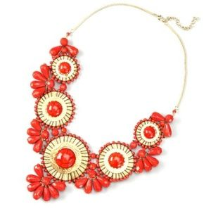Chico's Medallion Bib Necklace